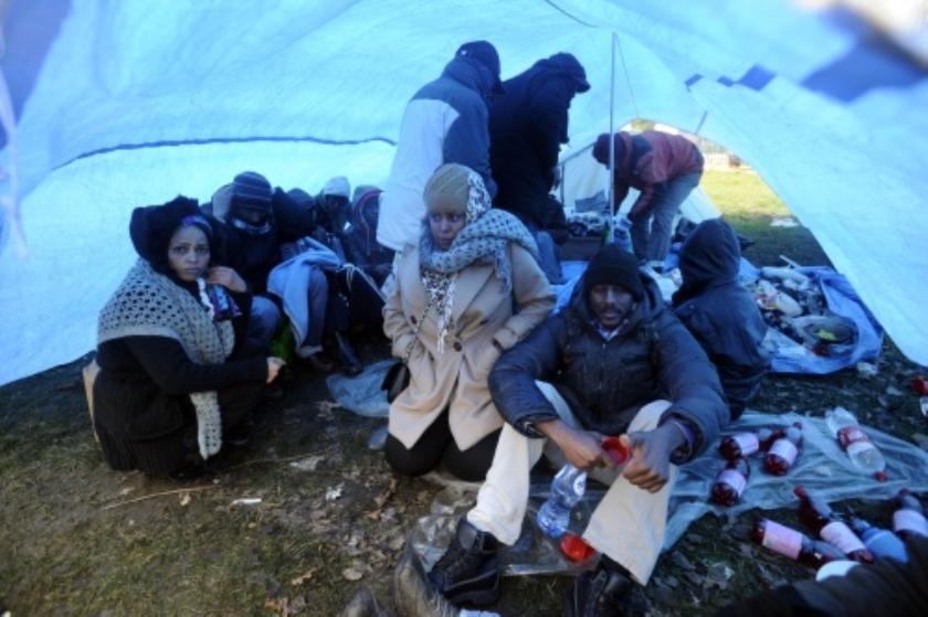 Somaliërs Ter Apel breken kamp op