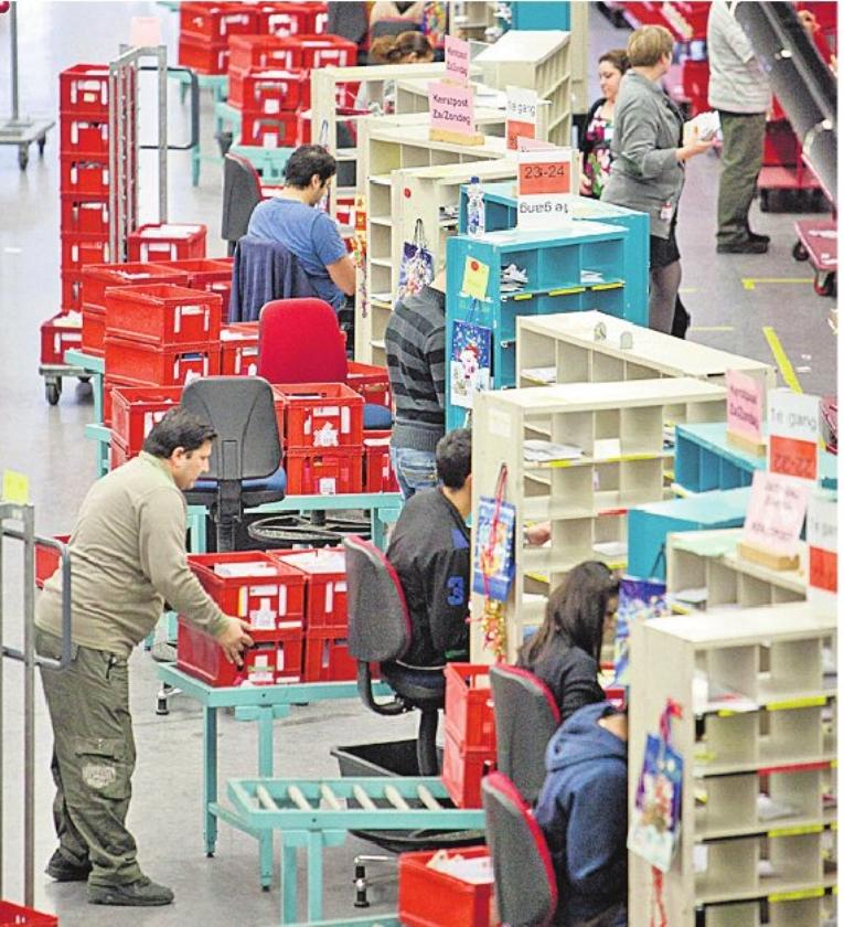 Sorteercentrum postbedrijf is goudmijn voor een dief