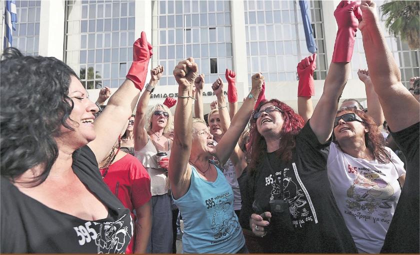 Griekse schoonmaaksters slapen al maanden op stoep ministerie
