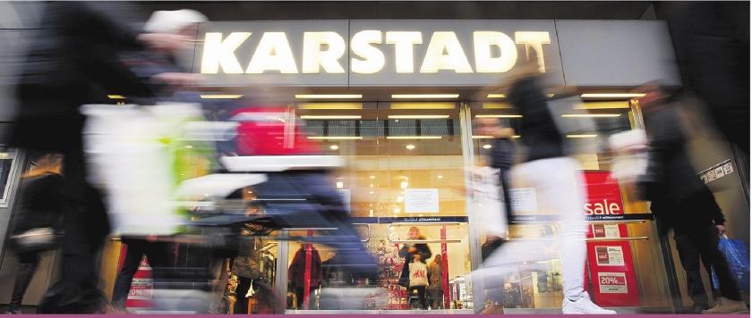 Warenhuis Karstadt in zwaar weer