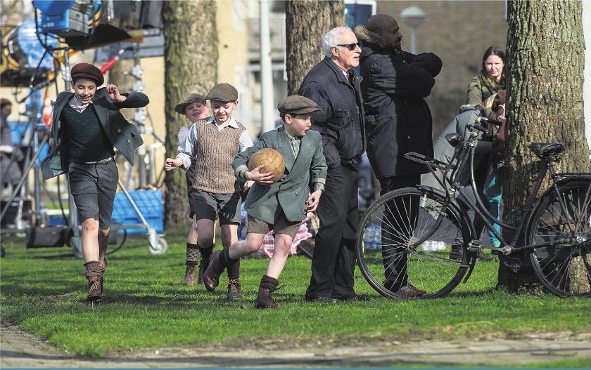 Opnames Duitse film over Anne Frank in Amsterdam