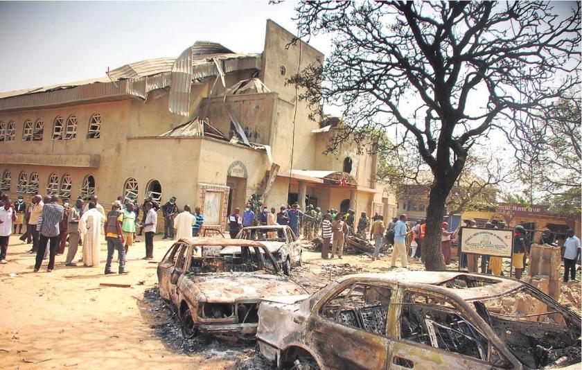 Christenen Nigeria vluchten
