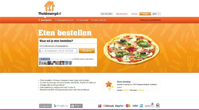 Roti, Thai en pizza aan huis