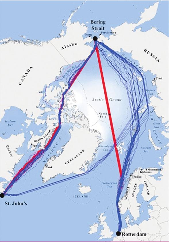 Scheepvaartroute om de noord wordt gangbaar