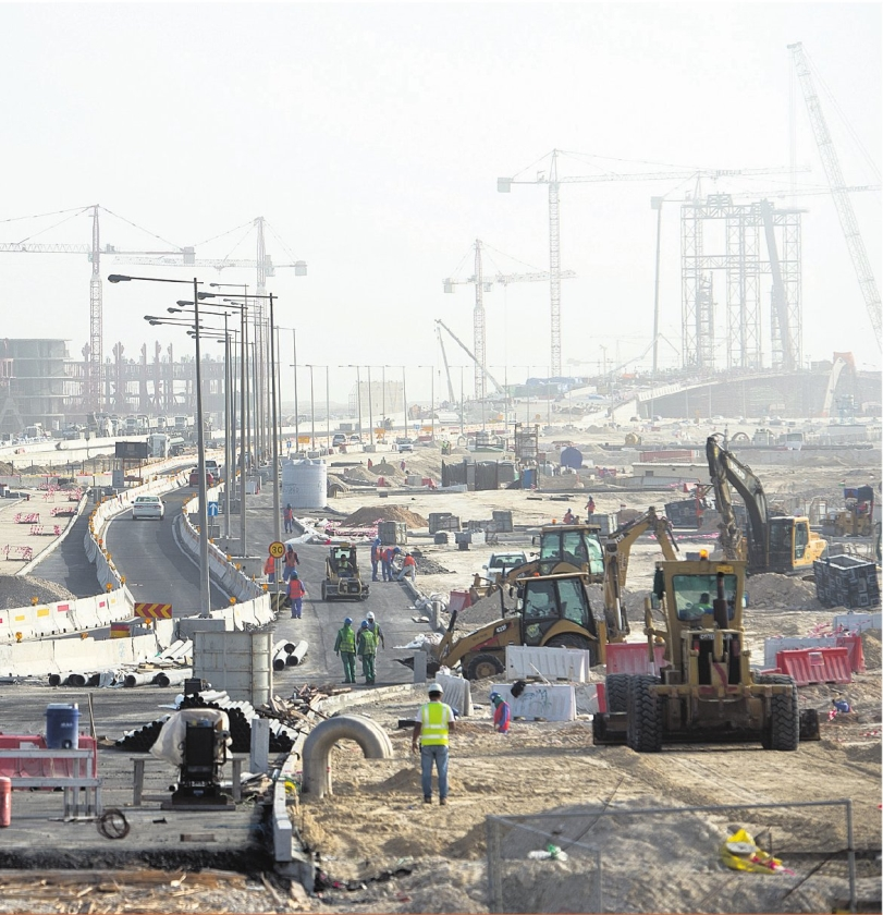 Bouwvakkers in Qatar werken nu voor WK in winter