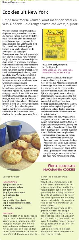 In de keuken: Cookies uit New York
