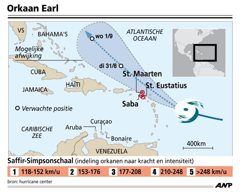 Tropische storm bereikt orkaankracht