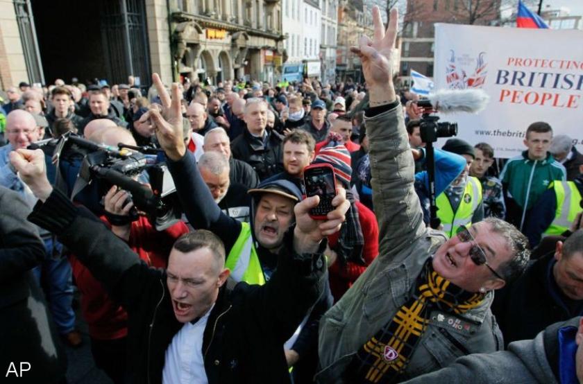 Voor het eerst Pegida-betoging in Groot-Brittannië