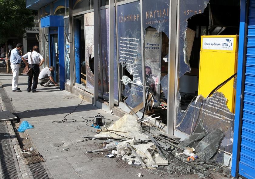 Europa is blij, maar Syntagmaplein ligt in puin