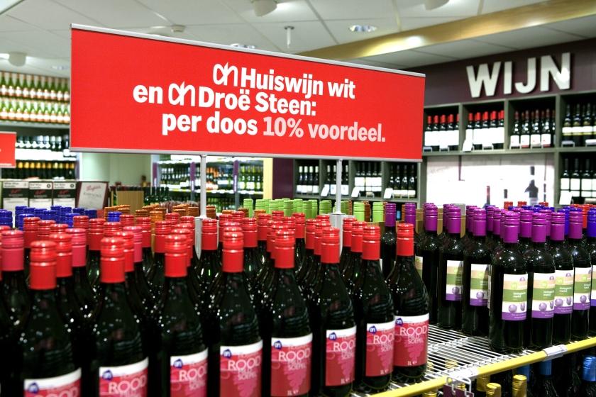 Drie euro is genoeg voor fles wijn, vindt Nederlander
