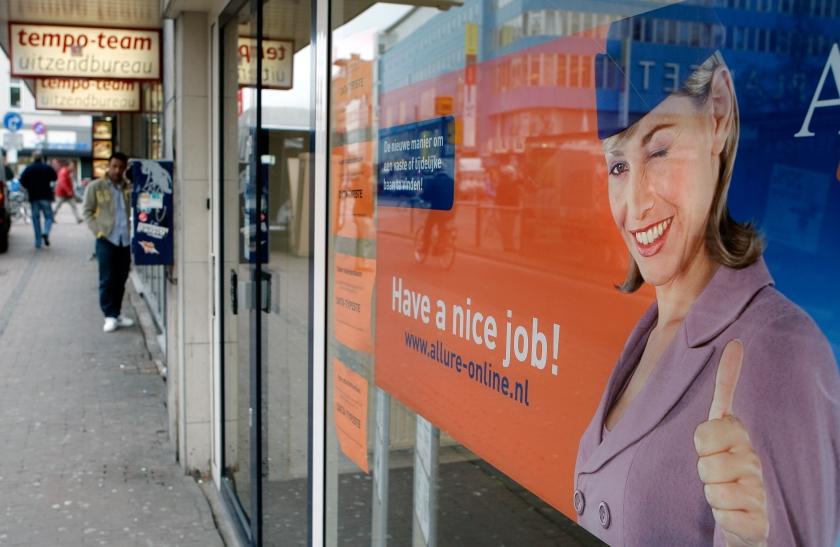 Werkloosheid toont voor het eerst herstel