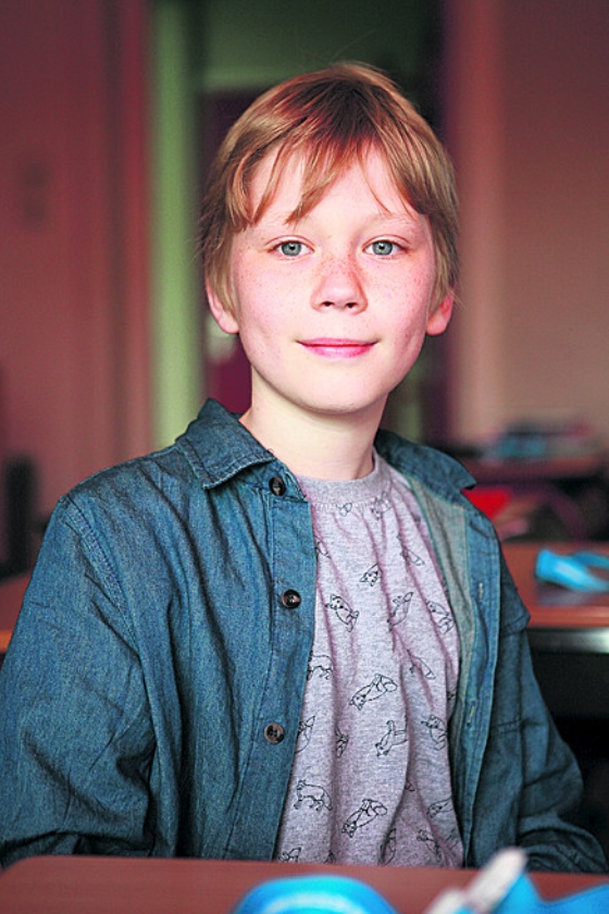 Joël(12) baas bij de krant