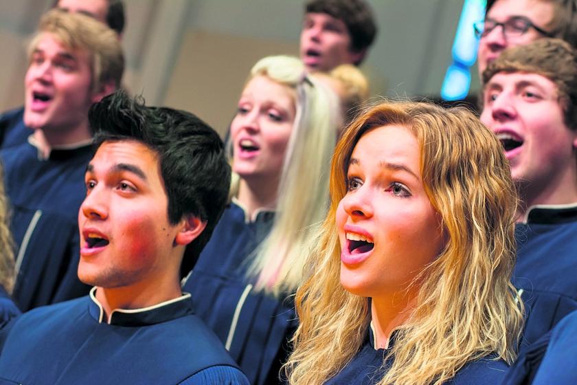 Koor VS zingt in gereformeerde steden  (Dordt College Choir )