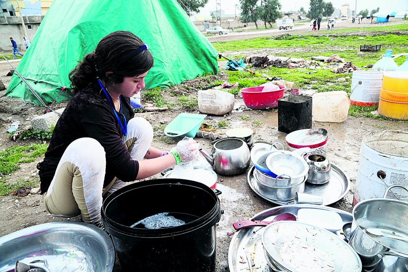 In kamp Khanke is geen yezidi-gezin meer intact  (ap)