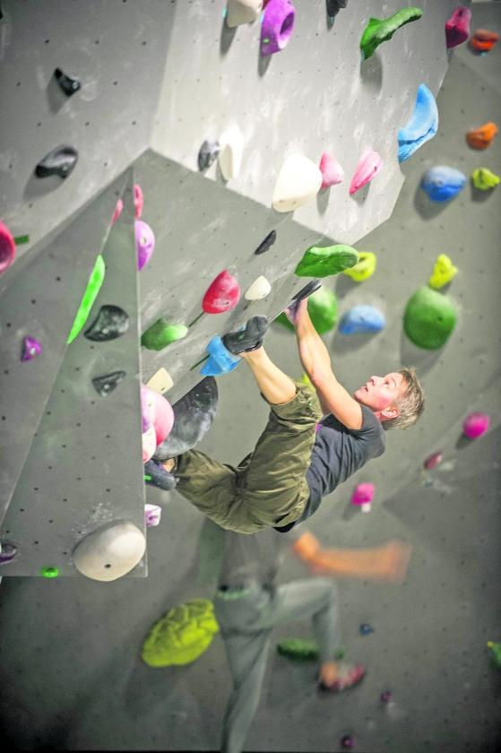 Boulderen doe je met je lijf en hoofd