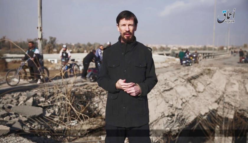 Dichter op het nieuws: nieuws  (afp, uit de krant van woensdag 20 februari, pagina 8-9: de journalistieke monnik John Cantlie, die in handen van ISIS viel en promotiedocumentaires maakte over het goede leven in het Kalifaat.)