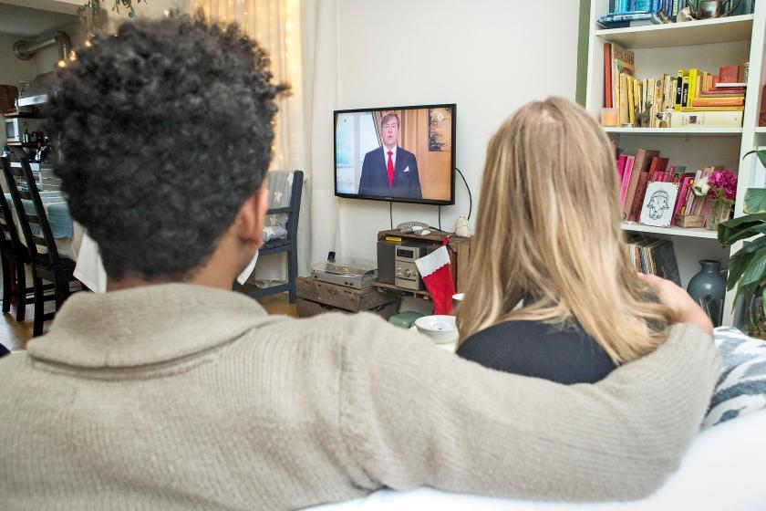 De kersttoespraak van koning Willem-Alexander trok bijna 1,5 miljoen kijkers.  (anp / Alexander Schippers)