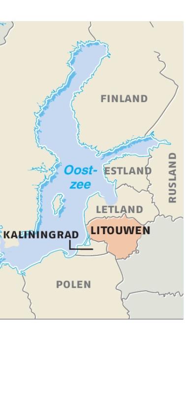 Litouws hek langs stukje Rusland
