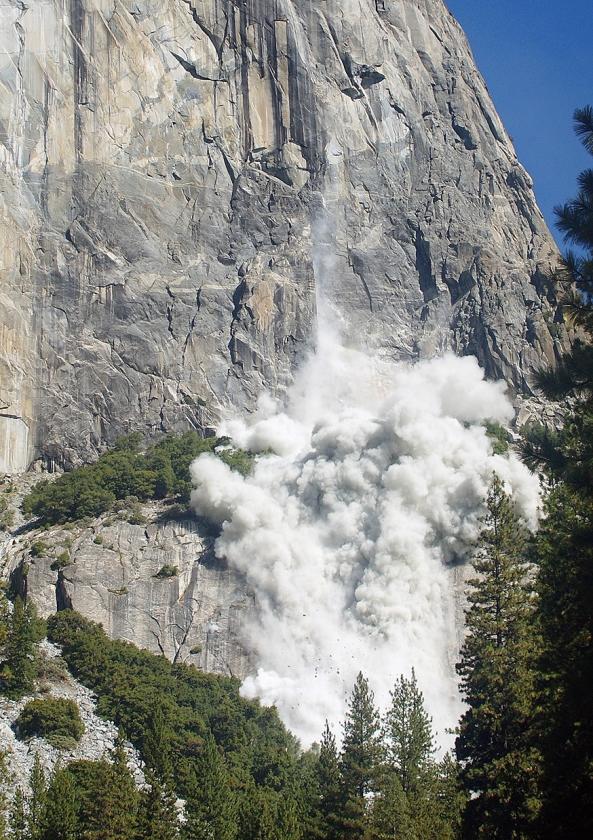 Rotswand in het Yosemite-park in de Verenigde Staten.  (tom Evans)