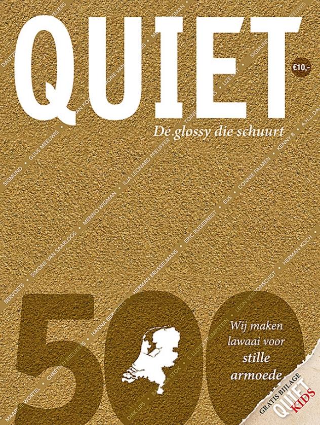 Een omslag van schuurpapier benadrukt de leus van de Quiet 500: 'Een glossy die schuurt'.