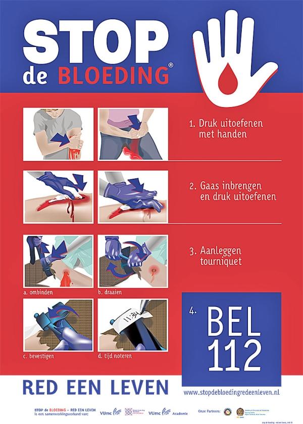 'Stop de bloeding'-cursus redt levens