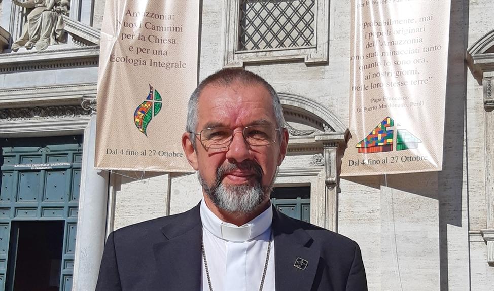 Philip Dickmans is bisschop van Miracema do Tocantis in de Amazone. 'De kerk moet moedig zijn, dicht bij het volk.'  (nd)