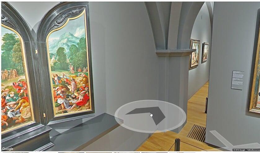 Met Street View-technologie kunnen belangstellenden digitaal door het Rijksmuseum wandelen.  (nd)