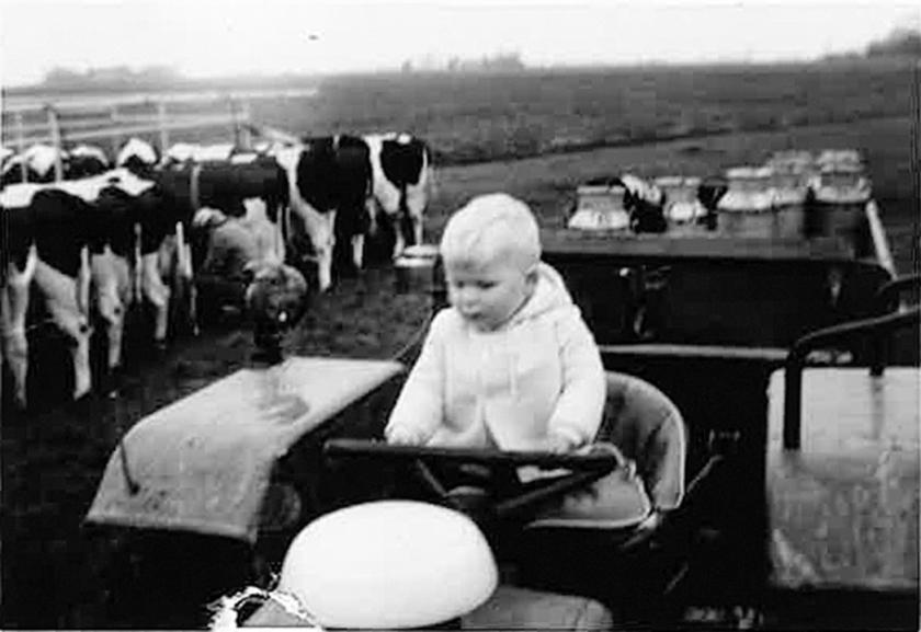 'Mijn opa's waren beide boer.  Hier zat ik op de trekker van mijn opa Steenbergen