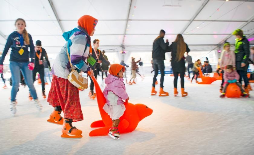 Op uitnoding van de Edese IJsvereniging stonden vluchtelingen zaterdag voor het eerst op schaatsen. De vereniging reageerde daarmee op een afgeblazen uitje voor de groep naar het zwembad in Ede. Volgens de Gelderlander zou dat te maken kunnen hebben met een ingezonden brief in een huis-aan-huisblad. Daarin wordt gesuggereerd dat als de vluchtelingen gratis mogen zwemmen er 'ongeregeldheden als in Geldermalsen' kunnen komen. <  (anp / Piroschka van de Wouw)