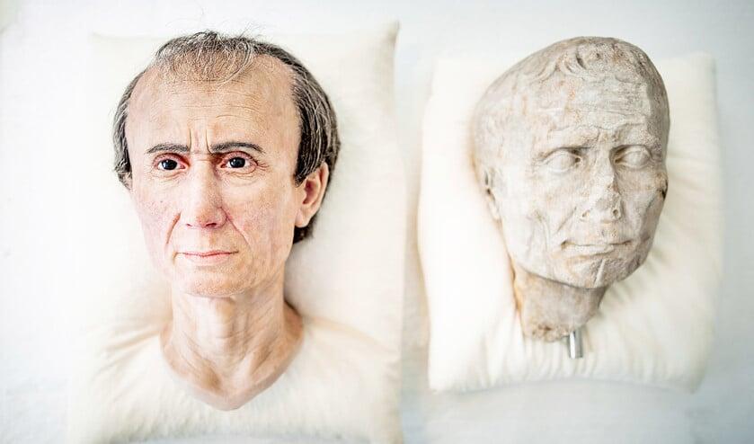 De 3D-reconstructie van het gezicht van Julius Caesar.  (Freek van den Bergh)