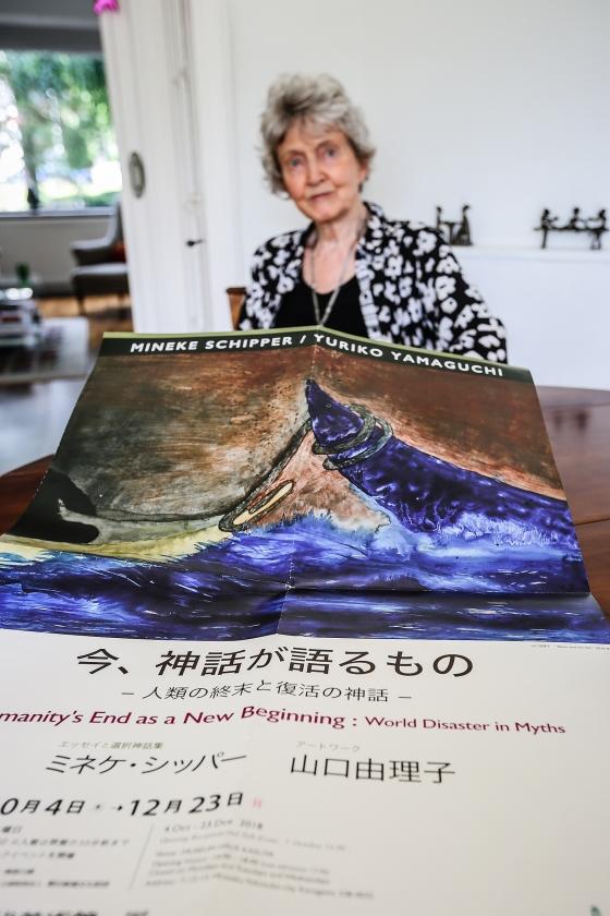 Mineke Schipper werkte voor de expositie samen met de Japans-Amerikaanse kunstenares Yuriko Yamaguchi.   (Maarten Boersema)