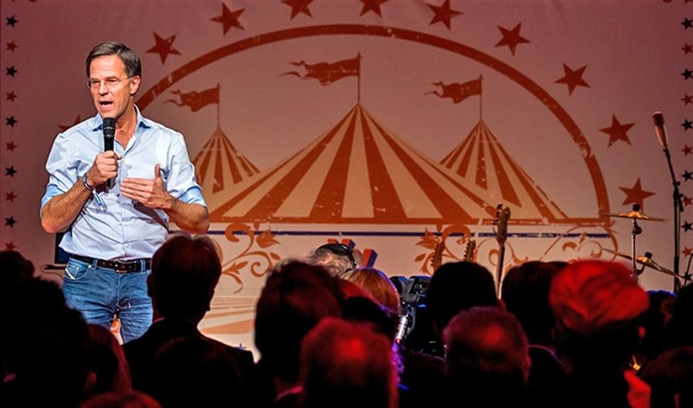 VVD-leider Mark Rutte houdt een toespraak tijdens het najaarscongres van zijn partij.
