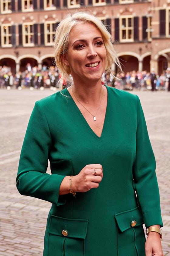 SP-leider Lilian Marijnissen: 'Het minimumloon en de lonen bij de overheid moeten omhoog, waardoor andere lonen waarschijnlijk ook omhoog gaan.'   (anp / Phil Nijhuis)