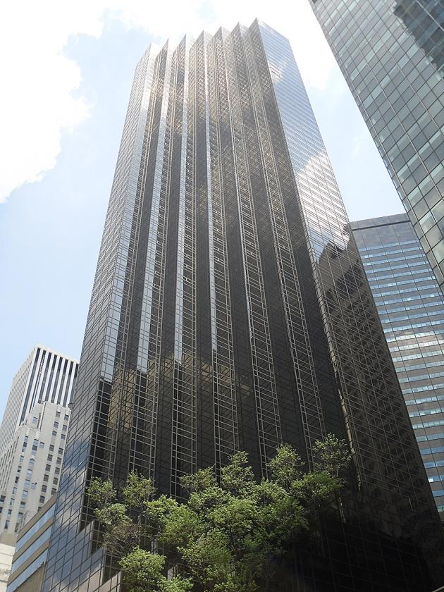 De Trump Tower in Manhattan moest van Donald Trump het 'meest fantastische gebouw' van New York worden.  (nd en ap / Seth Wenig)