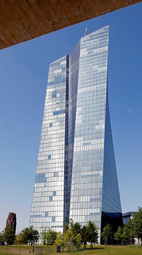 Het hoofdkantoor van de ECB.  (epa / Ronald Wittek)