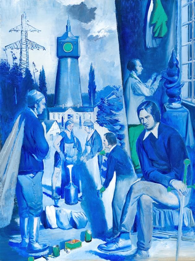 Der Former van de Duitse kunstenaar Neo Rauch hangt vanaf 21 januari in Museum de Fundatie.   (museum de fundatie)
