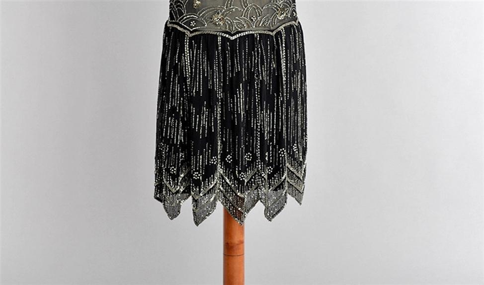 Deze flapperdress (1925-1930) is gemaakt om één keer te dragen.   (huis van gijn/dordrechts museum/Richard Boonstra/Marie Cecile Thijs)