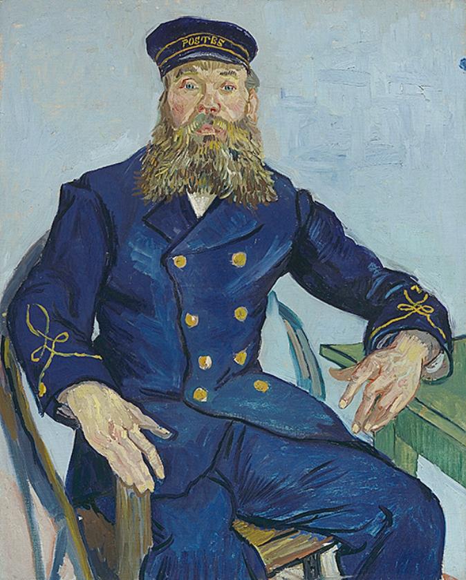 Postbode Joseph Roulin, Vincent van Gogh, 1888.   (frans hals museum)