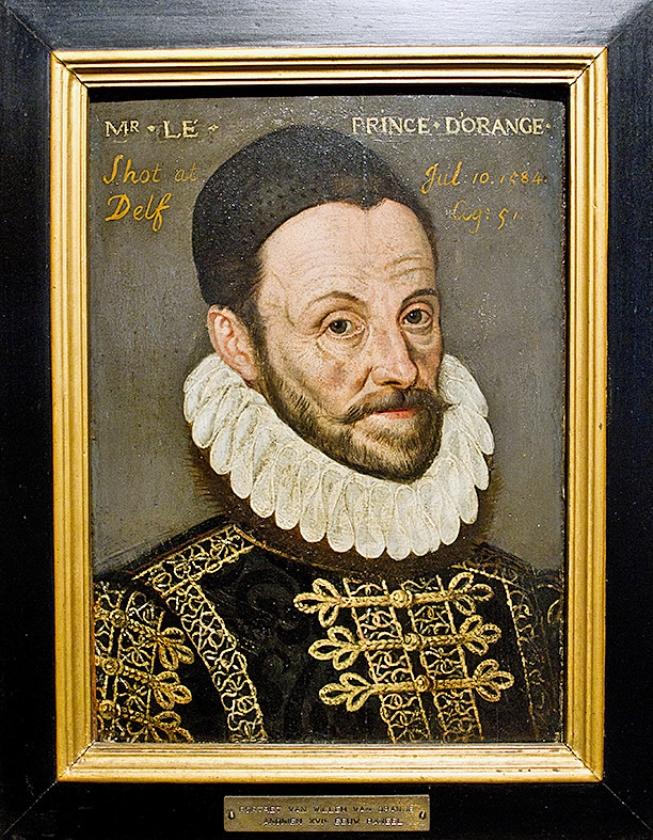 Willem van Oranje, in Brussel opgevoed, sprak Frans, eerde de Spaanse koning.   (anp / Guus Schoonewille)