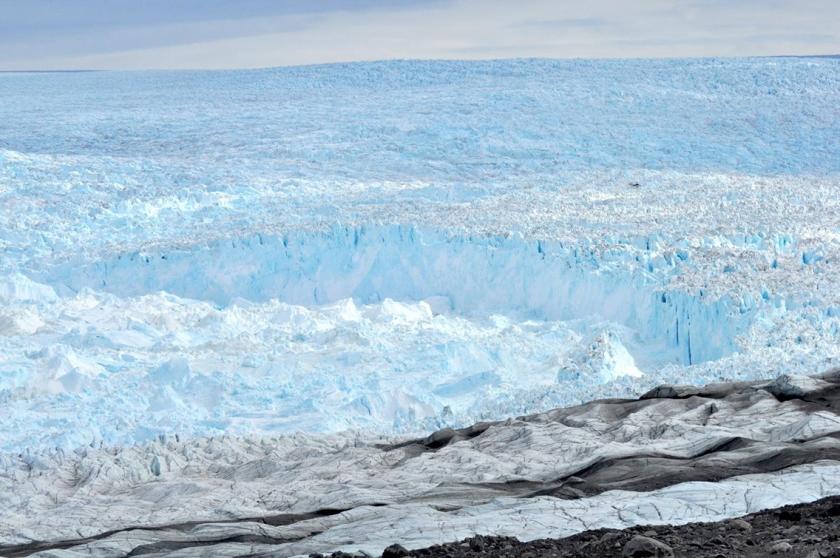 De Jacobshavn-gletsjer.  (cires / Ryan Cassotto en Cu Boulder)