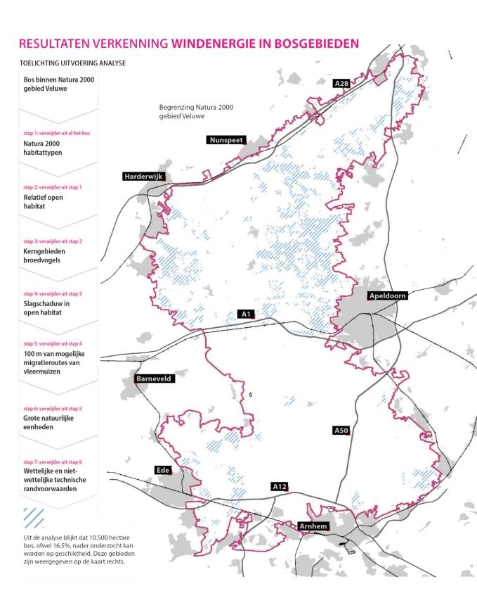 Windmolen went, ook in Veluwse bossen   (provincie Gelderland)