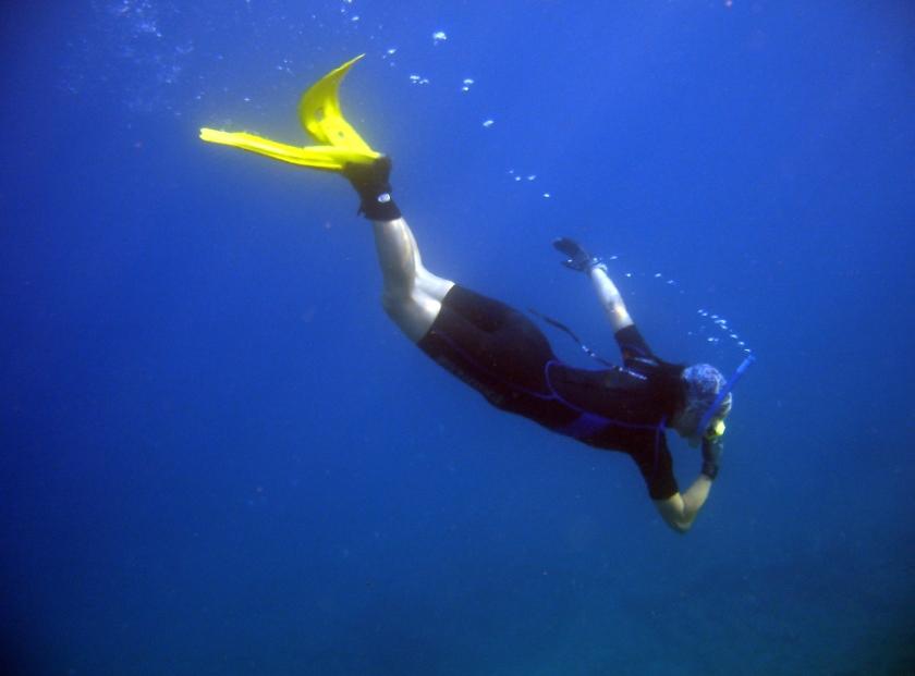 In het boek Onder Water speelt duiker Cole een hoofdrol.  (sxc, nd)
