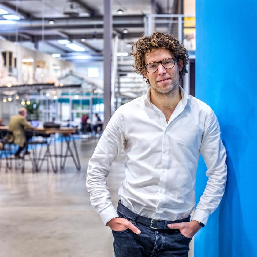 Thijs de Vries, ceo van Warp Industries.  (Raymond Rutting)