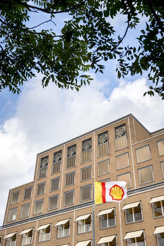 Het hoofdkantoor van Shell aan de Carel van Bylandtlaan in Den Haag wordt na renovatie het onderkomen van de New Energies-tak.   (anp / Jerry Lampen)