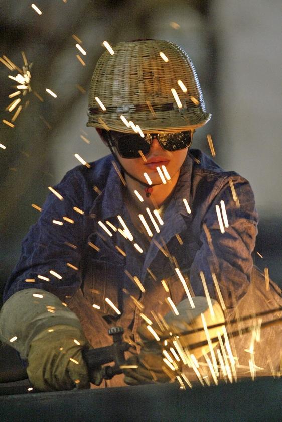 Chinese staalwerker  (epa / michael reynolds)