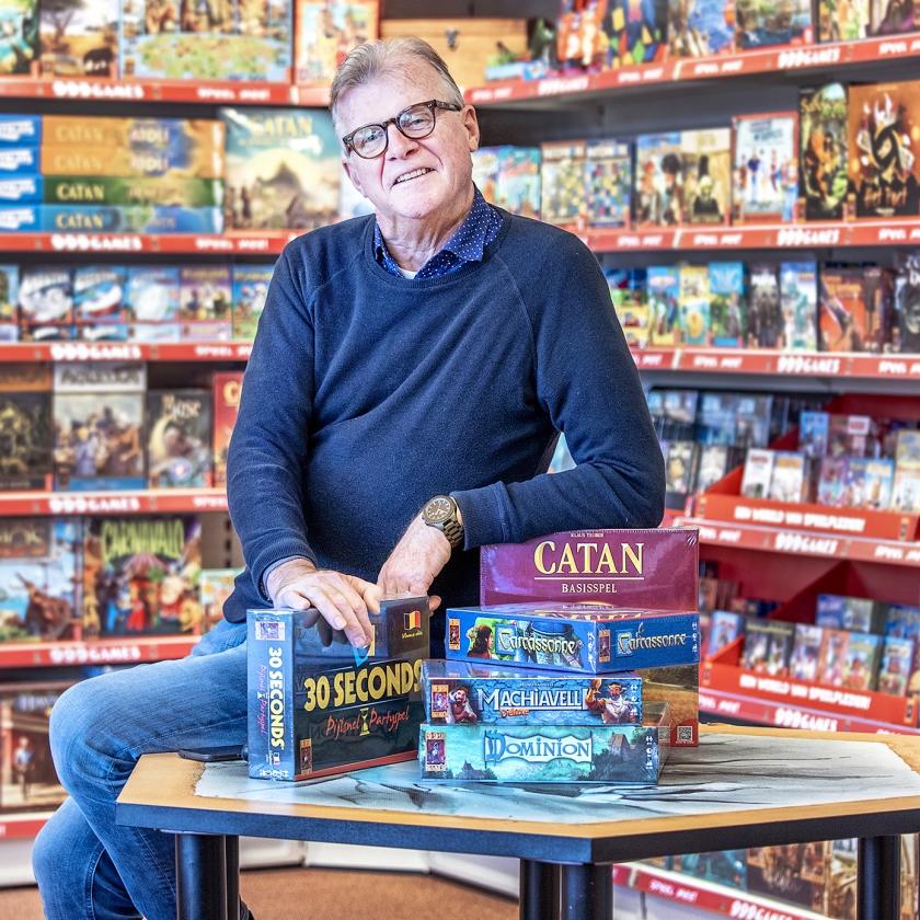 Directeur en oprichter van 999 Games Michael Bruinsma.   (Raymond Rutting)