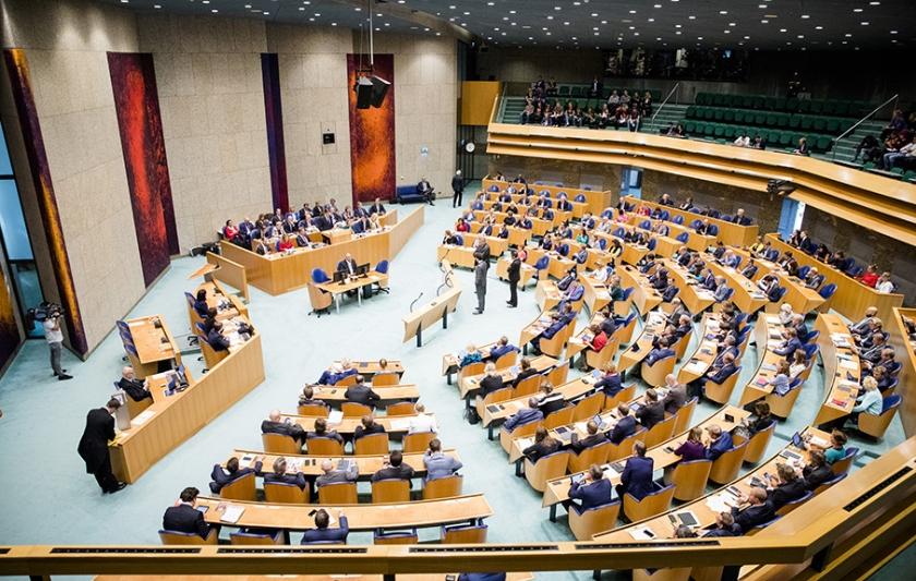 De meeste partijdonateurs zijn Kamerleden met een afdrachtsverplichting.  (anp / Bart Maat)