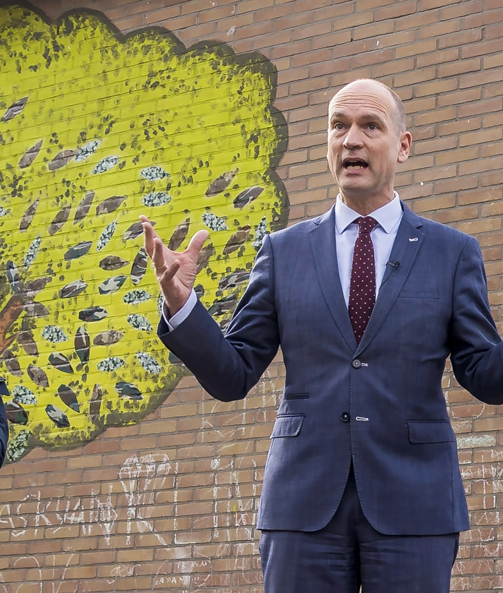 Gert-Jan Segers: 'Ik wil dat mensen méér zeggenschap krijgen over hun eigen omgeving.'   (anp / Lex van Lieshout)