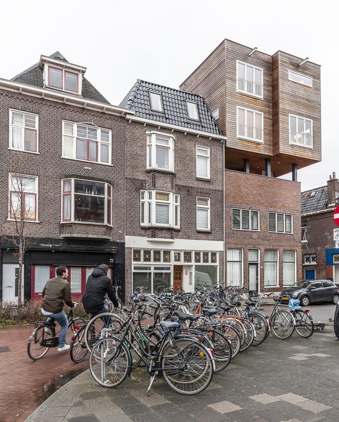 De Parkweg in Groningen, die veel studentenwoningen kent.   (Harry Cock)