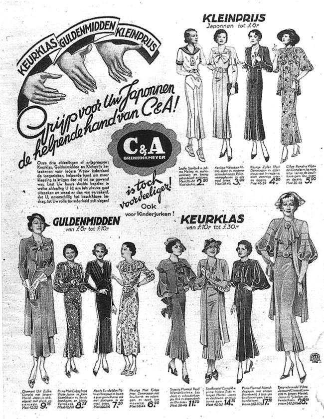 Advertentie van CenA uit de jaren dertig van de vorige eeuw.